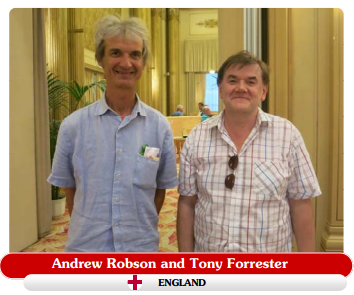 Andrew and Tony Forrester at the cavendish