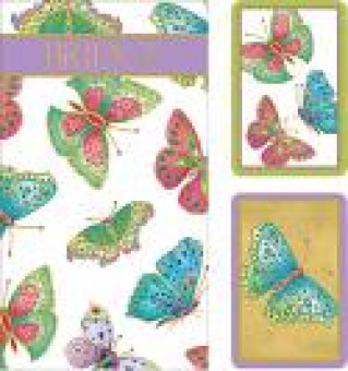 Caspari Playing Cards and 2 Score Pads - Jewelled Butterflies  Design