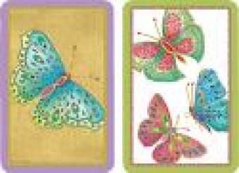 Caspari Playing Cards - Jewelled Butterflies Design