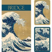 Caspari Playing Cards and 2 Score Pads - The Great Wave
